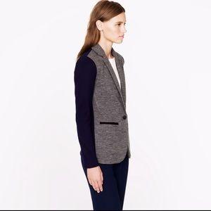 J. Crew • Contrast Knit Wool Blazer